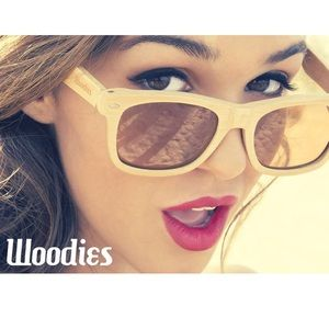 Woodies Natural Full Bamboo All Wood Sunglasses